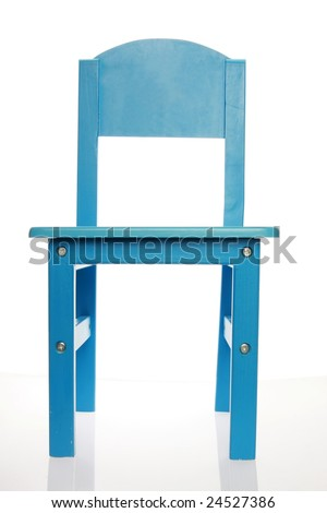 A simple blue wood chair isolated on white shot Stock photo © shutswis