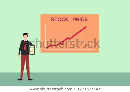 Arrow On Chart On Smartphone Shows Increase Stock photo © stuartmiles