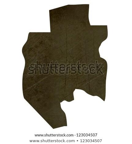 темно · карта · Габон · изолированный · белый - Сток-фото © speedfighter
