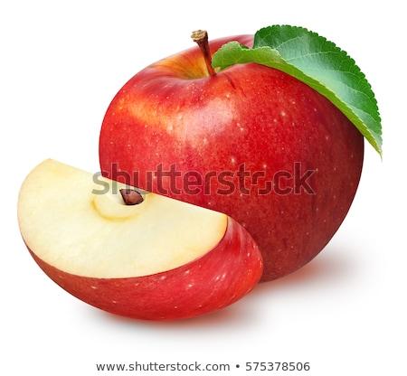 Stok fotoğraf: Yeşil · kırmızı · elma · yalıtılmış · gri · gıda