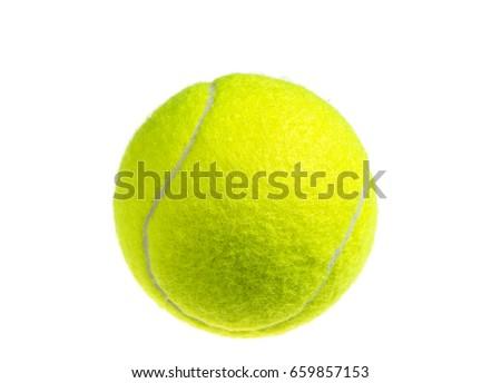 yellow tennis ball isolated on white stock photo © ozaiachin