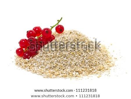 Yulaf kepek kırmızı uygunluk meyve mısır Stok fotoğraf © g215