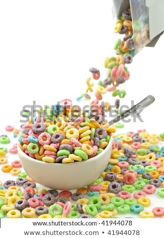 Cereal loops pouring out of a box Stock photo © lightkeeper