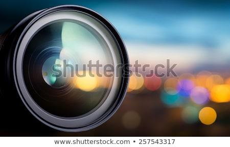photo · film · réflexion · blanche · affaires · fond - photo stock © neirfy