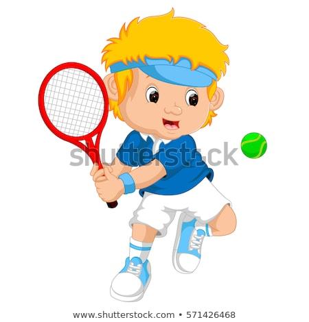 かわいい スポーティー 少年 ボール 幸せ ストックフォト © Talanis