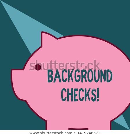 巨大な ピンク 豚 動物 貯金 ストックフォト © curvabezier