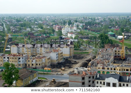 templom · belváros · kilátás · helyreállítás · égbolt · építkezés - stock fotó © aikon