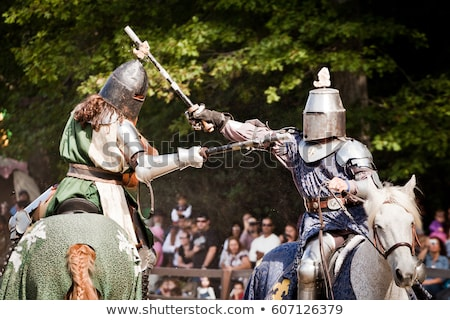 Stockfoto: Toernooi · middeleeuwse · ridder · paardenrug · concurrentie