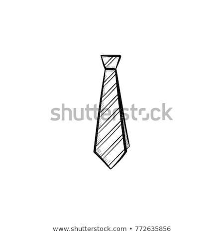 elegant silk male tie necktie on white stock photo © elnur