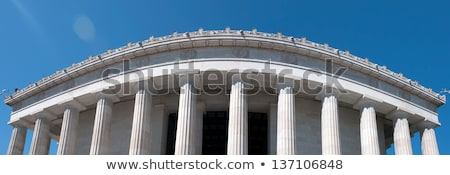 top portion of a lincoln memorial old greek architecture Stock photo © alex_grichenko