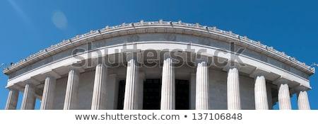 statue · Washington · DC · main · bâtiment · anniversaire · marbre - photo stock © alex_grichenko
