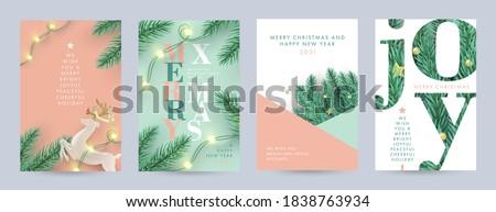 Joie Noël décoration rouge glitter lettres Photo stock © jenbray