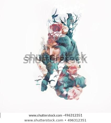 肖像 美しい 女性 明るい 化粧 写真 ストックフォト © amok