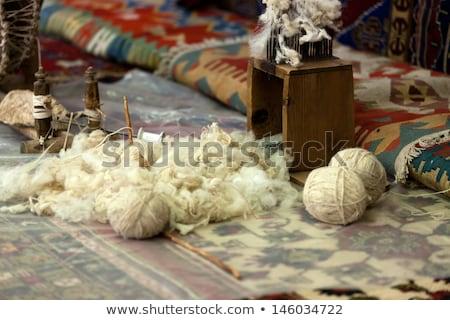 manual production of carpets  Stock photo © wjarek