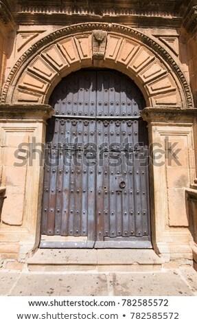 教会 ドア 青 カトリック教徒 大聖堂 ストックフォト © rhamm