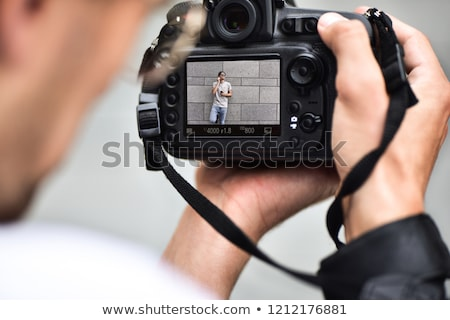 camera lense as nice background  Stock photo © jonnysek