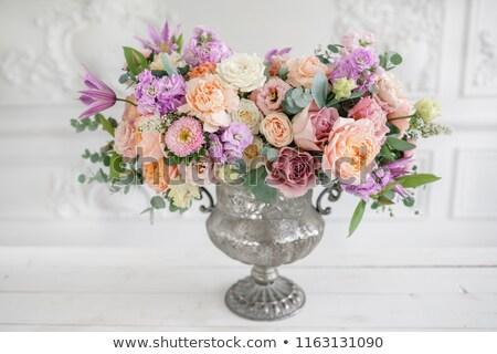 花瓶 花束 異なる 花 愛 ガラス ストックフォト © compuinfoto