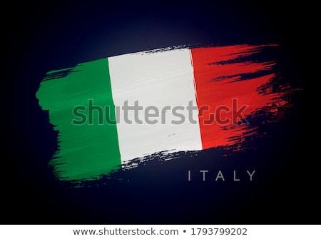włoski · grunge · atramentu · banderą · ilustracja · projektu - zdjęcia stock © alexmillos
