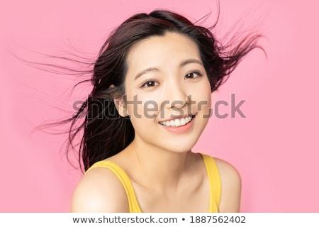 розовый · волос · Японский · макияж - Сток-фото © Elisanth
