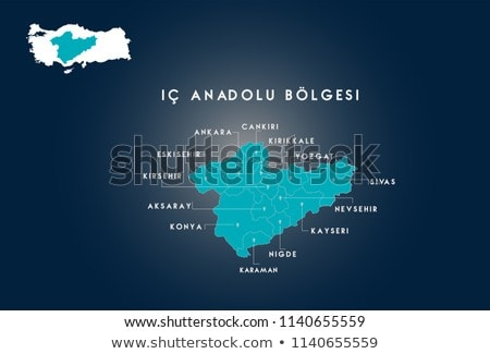 Harita Türkiye dışarı yalıtılmış beyaz mavi Stok fotoğraf © Istanbul2009