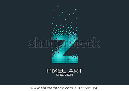 Alfabet cząstki pismo z logo wektora Zdjęcia stock © netkov1