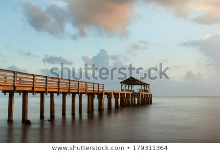 Bath pier silhouette Stock photo © olandsfokus