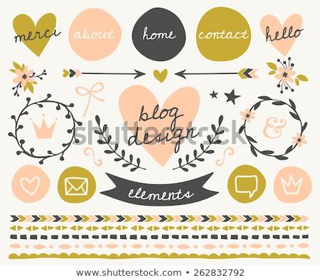 Krone rosa Vektor Taste Symbol Design Stock foto © rizwanali3d