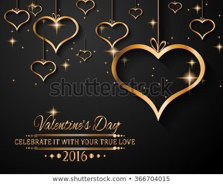 belo · decorativo · corações · dia · dos · namorados · texto · espaço - foto stock © davidarts