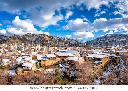 パノラマ 表示 村 地区 キプロス 山 ストックフォト © Kirill_M