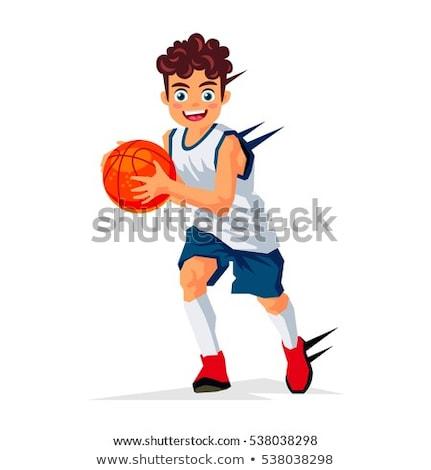 Little boy in basketball uniform Stock photo © bluering