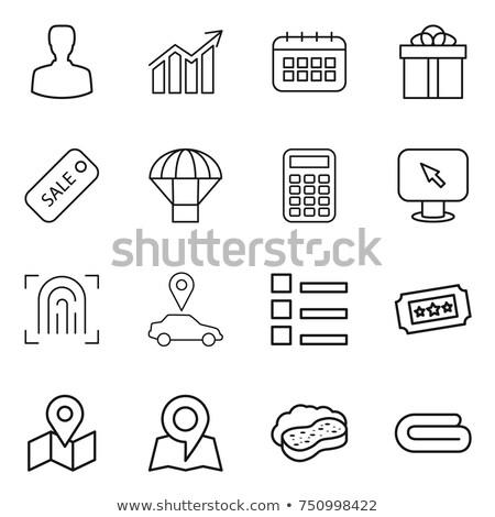 éponge carte isolé blanche design maison Photo stock © Oakozhan