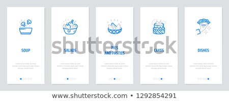 card template with fresh mushrooms stock photo © bluering