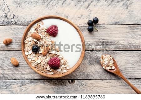 ボウル ミューズリー イチゴ 朝食 ストックフォト © M-studio