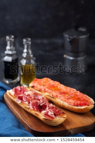 Espanhol brinde fatia pão Óleo presunto Foto stock © jarp17