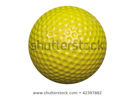 Isolated yellow golf ball on a white tee Stock photo © njnightsky