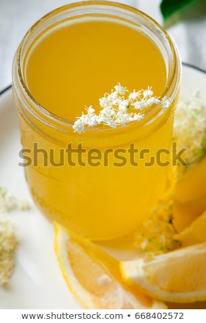 Elderflower Cordial In Glass Jar Style Vintage Stok fotoğraf © zoryanchik