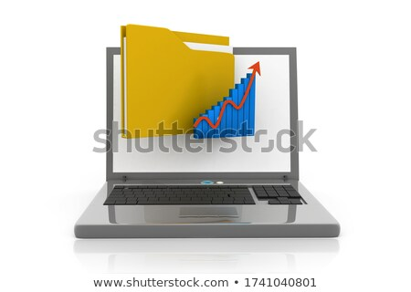 Folder Index with Monitoring and Reporting. 3D. Stock photo © tashatuvango