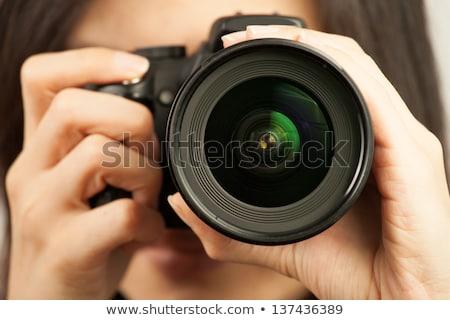 見える 美 レンズ デジタルカメラ 反射 ストックフォト © tashatuvango