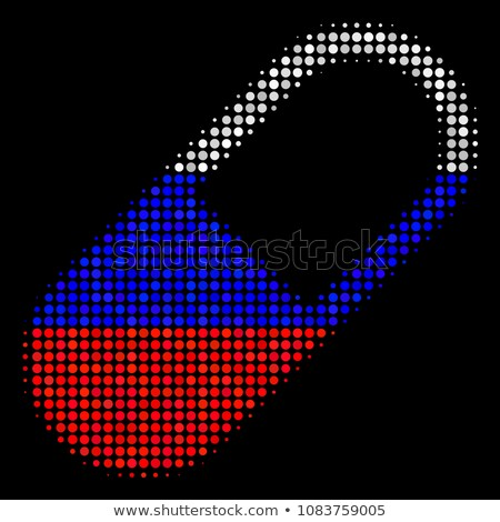 Russian pill. Russian Capsule flag. Vector illustration medical  Stock photo © popaukropa