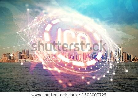Bitcoin moeda transferir negócio solução Foto stock © Lightsource