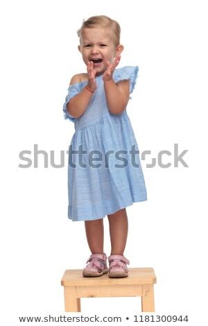 ブロンド · 少女 · 悲鳴 · 幸せ - ストックフォト © feedough