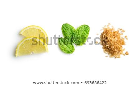 Cytryny plastry mięty składniki lata koktajl Zdjęcia stock © YuliyaGontar