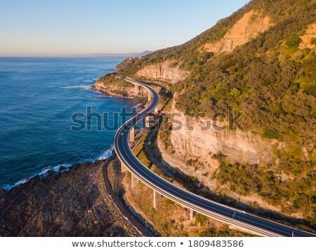 Deniz uçurum köprü güney sahil kaya Stok fotoğraf © lovleah