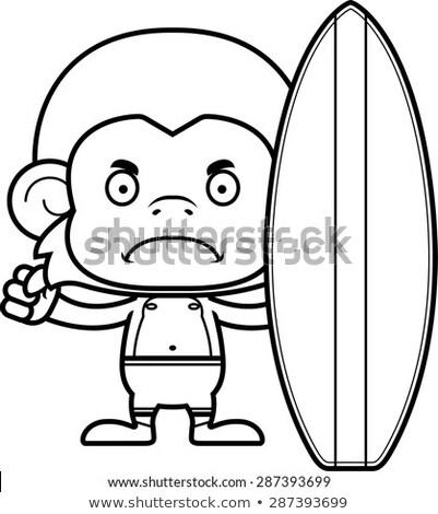 漫画 怒っ ファー 猿 見える ストックフォト © cthoman
