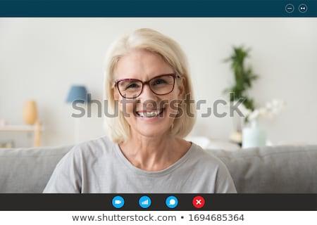 クローズアップ · 肖像 · 魅力的な · シニア · 女性 · 孤立した - ストックフォト © boggy