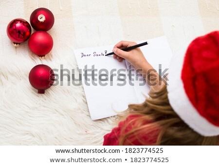 levél · mikulás · pergamen · papír · mikulás · kalap - stock fotó © choreograph