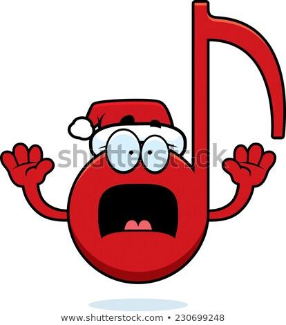 Ijedt rajz karácsony zene illusztráció zenei hang Stock fotó © cthoman