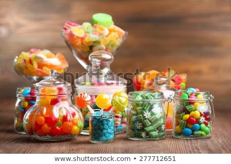 Kleurrijk verschillend gekleurd snoep gemengd snoep Stockfoto © dashapetrenko