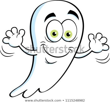 Cartoon Ghost Waving Stock photo © cthoman