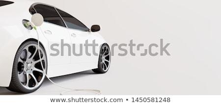 Witte elektrische auto illustratie natuur ontwerp achtergrond Stockfoto © bluering